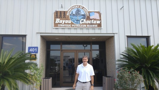 Figure 2: SCIPP PI Dr. Barry Keim outside the Bayou Choctaw SPR site near Baton Rouge, LA.