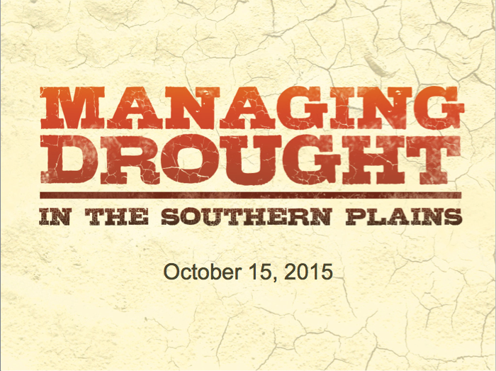 October 15, 2015 Drought Briefing